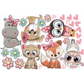 Kislány állatok falmatrica csomag 2.
