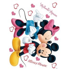 Minnie egér és Mickey egér szíves falmatrica