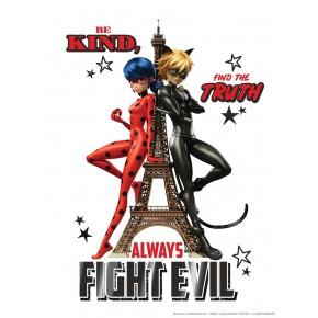 Párizs Katicabogár és Fekete macska poszter
