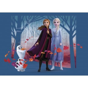 Jégvarázs Elsa és Anna, Olaf erdő poszter