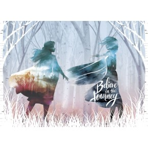 Jégvarázs Elsa és Anna színes poszter