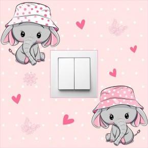 Elefántos kapcsoló falmatrica