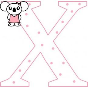 """X"" betű matrica, fehér"