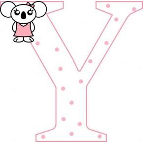 """""""Y"""" betű matrica, fehér"""