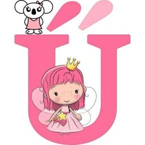 """Ú"" betű matrica, pink"