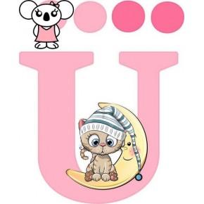 """""""Ü"""" betű matrica, rózsaszín"""