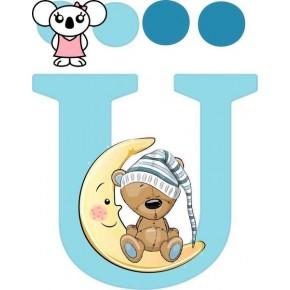 """Ü"" betű matrica, világoskék"