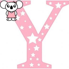 """Y"" betű matrica, rózsaszín"