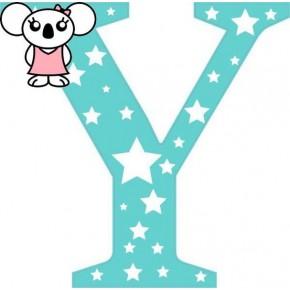 """""""Y"""" betű matrica, menta"""
