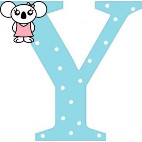 """Y"" betű matrica, világoskék"