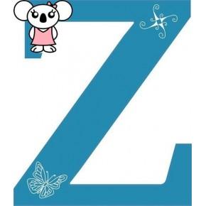 """""""Z"""" betű matrica, kék"""