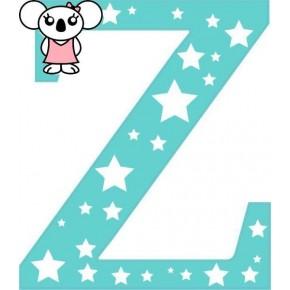 """Z"" betű matrica, menta"
