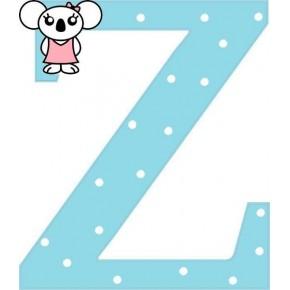 """""""Z"""" betű matrica, világoskék"""