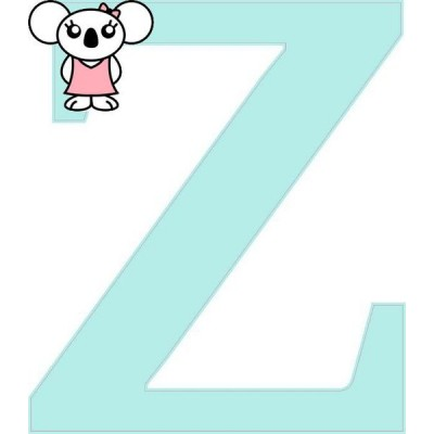 """Z"" betű matrica, világos menta"