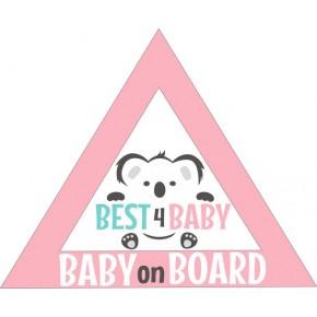 Best4Baby autó matrica, lány