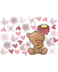 Teddy macis babaszoba falmatrica