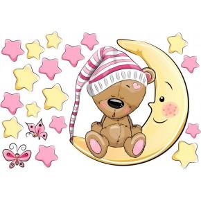Maci sapkában, csillagokkal baba matrica