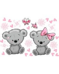 Koala pink gyerekszoba falmatrica