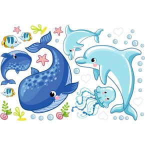 Delfin, Bálna babaszoba falmatrica