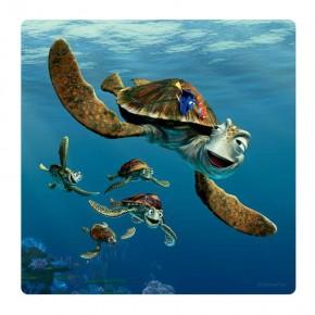 Némó teknős falikép