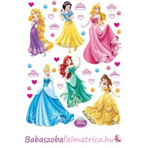 Hercegnők táncolnak babaszoba faldekoráció