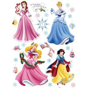 Disney Hercegnők faldekoráció, téli, havas