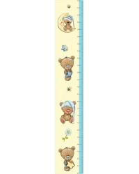 Fiú macis gyerekszoba magasságmérő falmatrica