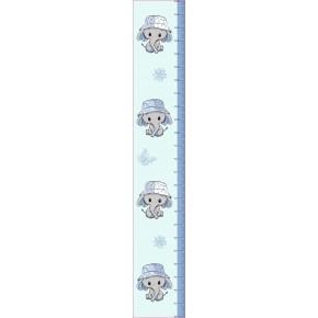 Elefántos magasságmérő falmatrica, fiú