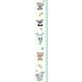 Állatok magasságmérő falmatrica