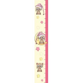 Cicás, kislány magasságmérő falmatrica, 120 cm