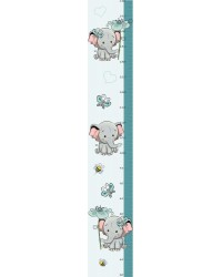 Elefánt kisfiú magasságmérő falmatrica, 120 cm
