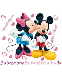 Minnie, Mickey gyerekszoba faldekoráció