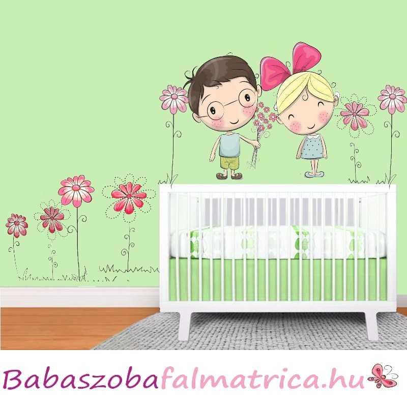 kislány babaszoba falmatrica